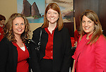 Jenny Miller, Victoria Pons and Heather Sturlese at the American Heart Association Go Red for Women luncheon at the InterContinental Houston Monday May 04,2009.  (Dave Rossman/For the Chronicle)
