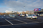 Shoppers cars parked in a retail park adjacent to The Riverside Stadium Middlesbrough, 16th January 2021. Middlesbrough 0 Birmingham 1, for WSC.