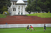 Action from the Wellington under-7 rippa rugby match between Newlands Aces and Marist St Pats Tigers at the Basin Reserve in Wellington, New Zealand on Saturday, 29 May 2021. Photo: Dave Lintott / lintottphoto.co.nz