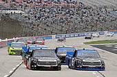 #18: Christian Eckes, Kyle Busch Motorsports, Toyota Tundra Safelite AutoGlass and #16: Austin Hill, Hattori Racing Enterprises, Toyota Tundra AISIN Group