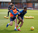 29.03.2019 Rangers training: Lee Wallace and Lassana Coulibaly