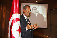 memorial service by the Constitutional Party in tunisia on 22.09.2019 the death of former Tunisian President Ben Ali - Tunisia's all-powerful leader for two decades, Zine El Abidine Ben Ali was forced from power and into exile by a landmark popular uprising in early 2011, sparking revolts across the Arab world. The man who once appeared in official portraits with a benevolent smile and jet black hair died on September 19, 2019 aged 83, in Saudi Arabia, Tunisia's foreign ministry said