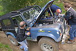 Repairing a Land Rover Defender 90 while competing at the ALRC National 2008 RTV Trial. The Association of Land Rover Clubs (ALRC) National Rallye is the biggest annual motor sport oriented Land Rover event and was hosted 2008 by the Midland Rover Owners Club at Eastnor Castle in Herefordshire, UK, 22 - 27 May 2008. --- No releases available. Automotive trademarks are the property of the trademark holder, authorization may be needed for some uses.