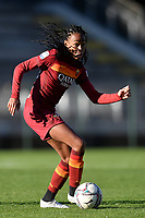 Lindsey Thomas of AS Roma in action during the Women Italy cup round of 8 second leg match between AS Roma and Florentia S.G. at stadio delle tre fontane, Roma, February 14, 2021. Photo Andrea Staccioli / Insidefoto