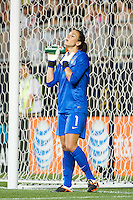 United States (USA) goalkeeper Hope Solo (1). The United States (USA) women defeated China PR (CHN) 4-1 during an international friendly at PPL Park in Chester, PA, on May 27, 2012.