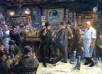 American Painters:  John Sloan--McSorley's Cat, 1928.  Oil on canvas.  The Huntington.
