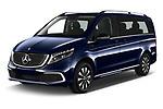 2021 Mercedes Benz EQV - 5 Door Passanger Van Angular Front automotive stock photos of front three quarter view