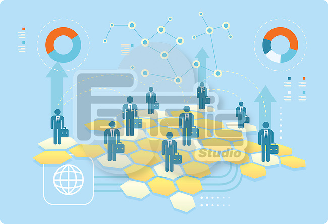 Illustrative image of business networking