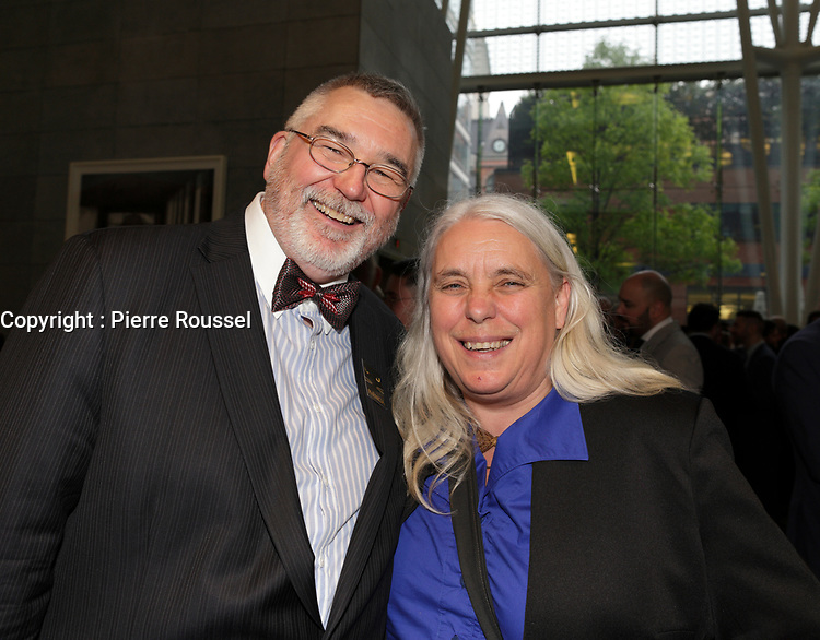 Thierry Arnaud et Manon Masse au<br /> 13 ieme Gala Phenicia , 25 mai 2017