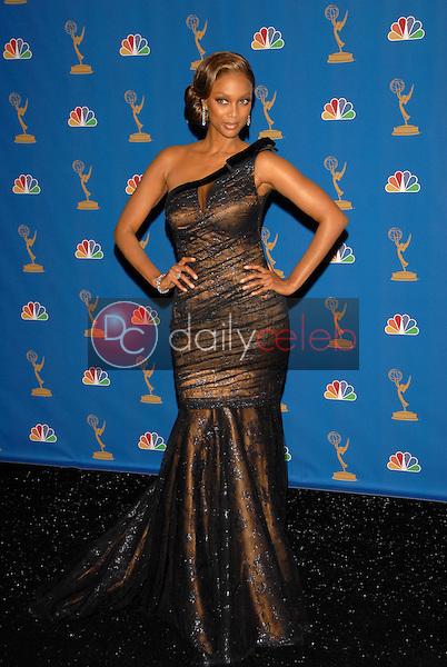 Tyra Banks<br />in the Press Room at the 58th Annual Primetime Emmy Awards. The Shrine Auditorium, Los Angeles, CA. 08-27-06<br />Scott Kirkland/DailyCeleb.com 818-249-4998