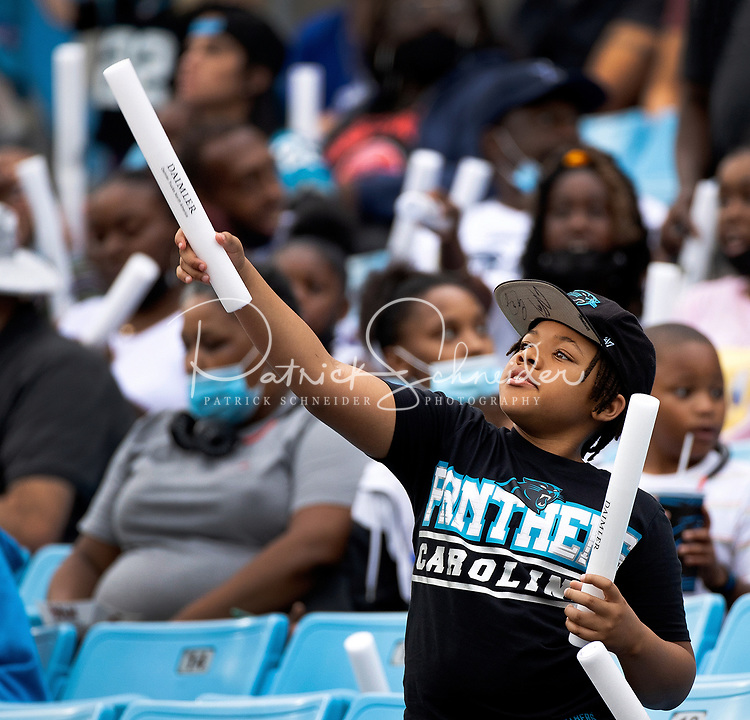 Photography of the 2021 Carolina Panthers Fan Fest, Friday night August 6, 2021 at Bank of America Stadium in Charlotte, NC.<br /> <br /> Charlotte photographer - Patrick SchneiderPhoto.com
