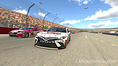 #20: Erik Jones, Joe Gibbs Racing, Toyota Camry, #96: Daniel Suarez, Gaunt Brothers Racing, Toyota Camry<br /> <br /> MEDIA: EDITORIAL USE ONLY) (This image is from the iRacing computer game)