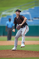 Brandon Neely (62) of Spruce Creek HS in Seville, FL playing for the San Francisco Giants scout team during the East Coast Pro Showcase at the Hoover Met Complex on August 3, 2020 in Hoover, AL. (Brian Westerholt/Four Seam Images)