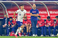 5th September 2021; Nashville, TN, USA;  United States Head Coach Greg Berhalter calls for a play during a CONCACAF World Cup qualifying match between the United States and Canada on September 5, 2021 at Nissan Stadium in Nashville, TN.