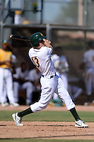 Oakland Athletics outfielder Mitchell Marincov (13) during an Instructional League game against the Chicago Cubs on October 16, 2013 at Papago Park Baseball Complex in Phoenix, Arizona.  (Mike Janes/Four Seam Images)