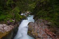 Deer Creek Falls, Mt. Rainier National Park, Washington, US