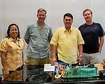 Mark and Rick pose with Mauban Mayor Llamas and Tourism Officer (and Buri organizer) Anie Calleja.