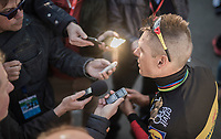 Another fine result, another 2nd place in the last 2 races; Philippe Gilbert (BEL/Quick Step floors) is in supergood shape for the Spring Classics and the press wants to hear all about it...<br /> <br /> 60th E3 Harelbeke (1.UWT)<br /> 1day race: Harelbeke › Harelbeke - BEL (206km)