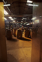Europe/France/Poitou-Charentes/16/Charente/Cognac/Tonnellerie Seguin Moreau: Fonçage<br /> PHOTO D'ARCHIVES // ARCHIVAL IMAGES<br /> FRANCE 1990