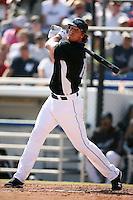 February 25, 2009:  Right fielder Adam Loewen of the Toronto Blue Jays during a Spring Training game at Dunedin Stadium in Dunedin, FL.  The New York Yankees defeated the Toronto Blue Jays 6-1.   Photo by:  Mike Janes/Four Seam Images