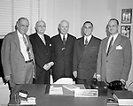 Pittsburgh PA:  View of the Executive Committee for the Western Pennsylvania Golf Association.  The Foundation was managed by Fidelity Trust Company and scholarships are agreed upon by the executive committee. The mission of the WPGA is to sanction championships, establish handicapping, and rate area golf courses.