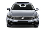 Car photography straight front view of a 2020 Volkswagen Passat GTE 5 Door Wagon Front View