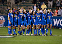 UCLA. UCLA advanced on penalty kicks after defeating Virginia, 1-1, in regulation time at the NCAA Women's College Cup semifinals at WakeMed Soccer Park in Cary, NC.