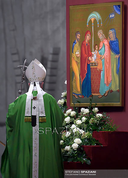 Pope Francis leads a mass for the Synod on the Familyin St. Peter's Basilica at the Vaticann. October 5, 2014