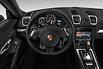Car pictures of steering wheel view of a 2016 Porsche Cayman 3 Door Coupe Steering Wheel