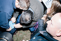 Texas senator and Republican presidential candidate Ted Cruz signs an autograph after speaking at a Second Amendment Rally outside Granite State Indoor Range in Hudson, New Hampshire.