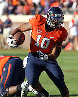 Oct. 15, 2011-Charlottesville, VA.-USA- Virginia Cavaliers running back Clifton Richardson (10) runs with the ball during the ACC football game against Georgia Tech at Scott Stadium. Virginia won 24-21. (Credit Image: © Andrew Shurtlef