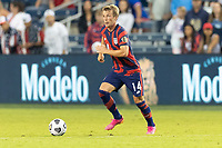 KANSAS CITY, KS - JULY 11: Jackson Yueill #14 of the United States moves with the ball during a game between Haiti and USMNT at Children's Mercy Park on July 11, 2021 in Kansas City, Kansas.