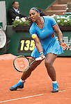 May 26, 2016:  Serena Williams (USA) defeated Teliana Pereira (BRA) 6-2 in the first set at  Roland Garros being played at Stade Roland Garros in Paris, .  ©Leslie Billman/Tennisclix/CSM