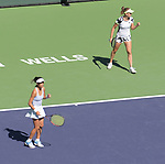 Su-Wei Hsieh (TPE) & Elise Mertens (BEL) defeated Veronika Kudermetova (RUS) & Elena Rybakina (KAZ) 7-6 (7-1), 6-3, at the BNP Paribas Open being played at Indian Wells Tennis Garden in Indian Wells, California on October 16,2021: ©Karla Kinne/Tennisclix/CSM