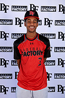 Kevin Wright II (3) of Ridgeland High School in Madison, Mississippi during the Baseball Factory All-America Pre-Season Tournament, powered by Under Armour, on January 12, 2018 at Sloan Park Complex in Mesa, Arizona.  (Mike Janes/Four Seam Images)