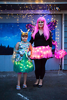 Mother and Daughter, Arts A Glow Festival, Burien, WA, USA.