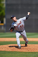 Detroit Tigers pitcher Trent Szkutnik (46) during a minor league Spring Training game against the New York Yankees on March 22, 2017 at the Yankees Complex in Tampa, Florida.  (Mike Janes/Four Seam Images)