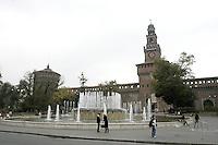 Il Castello Sforzesco a Milano.<br /> The Sforza Castle in Milan.<br /> UPDATE IMAGES PRESS/Riccardo De Luca
