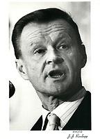 File Photo  -  Zbigniew BREZINSKI,<br /> December 5, 1980