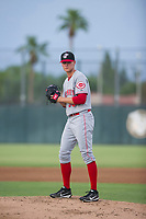 AZL Reds starting pitcher Ricky Karcher (30) prepares to deliver a pitch to the plate against the AZL Athletics on July 16, 2017 at Lew Wolff Training Complex in Mesa, Arizona. AZL Athletics defeated the AZL Reds 13-5. (Zachary Lucy/Four Seam Images)