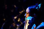 English National Ballet dancer Adela Ramirez watching from the wings