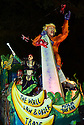 The Krewe D'Etat parade and its satirical float 800 lb. Gorilla rolls in New Orleans on Friday, Feb. 24, 2017. (AFP/CHERYL GERBER)