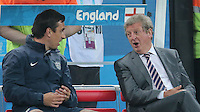 England Manager Roy Hodgson and Coach Gary Neville