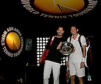 Rotterdam, The Netherlands. 15.02.2014. Michael Llodra(FRA)/ Nicolas Mahut(FRA) at the ABN AMRO World tennis Tournament<br /> Photo:Tennisimages/Henk Koster