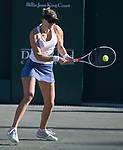 April 7,2017:  Mirjana Lucic-Baroni (CRO) defeated Shelby Rogers (USA) 6-7, 6-1, 6-1, at the Volvo Car Open being played at Family Circle Tennis Center in Charleston, South Carolina.  ©Leslie Billman/Tennisclix/Cal Sport Media