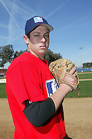 February 10 2008: Chris Joyce participates in a MLB pre draft workout for high school players at the Urban Youth Academy in Compton,CA.  Photo by Larry Goren/Four Seam Images
