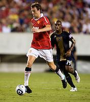 Johnny Evans. Manchester United defeated Philadelphia Union, 1-0.