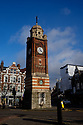 Crouch End's iconic Clock Tower, on the Broadway, dividing it into Topsfield Parade and Topsfield Road.