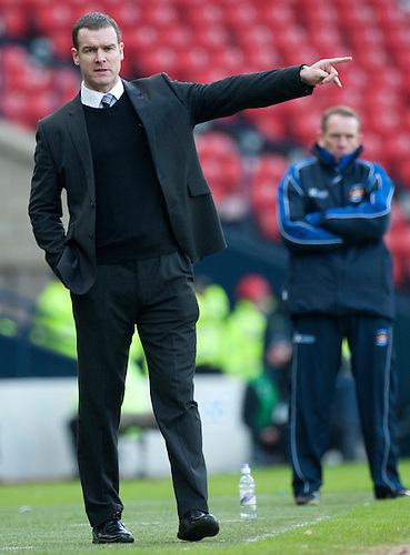 GLASGOW, SCOTLAND - JANUARY 28:  Ayr United manager Brian Reid during the Scottish Communities Cup Semi Final match between Ayr United and Kilmarnock at Hampden Park on January 28, 2012 in Glasgow, United Kingdom. (Photo by Rob Casey/Getty Images).
