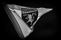 The corner flag with Torino FC logo waves prior to the Serie A football match between Torino FC and Atalanta BC at stadio Olimpico Grande Torino in Torino (Italy), September 26th, 2020. Photo Andrea Staccioli / Insidefoto